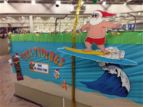 hawaiian christmas party ideas the pursuit of happiness surfing santa hawaiian office decorations