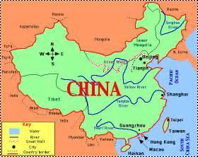 Ancient China Map by China Enchantedlearning Com