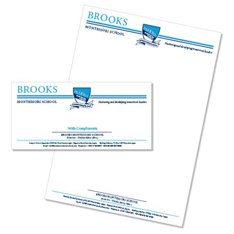 Letterhead For College Printed School Stationery