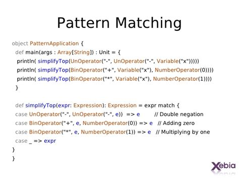 pattern matching scala exle getting started with scala
