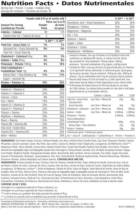 herbalife loaded tea nutrition facts besto blog