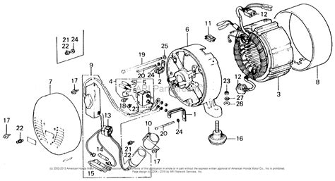 honda generator parts diagram diagram of honda generator parts e1500k3 a jpn get free