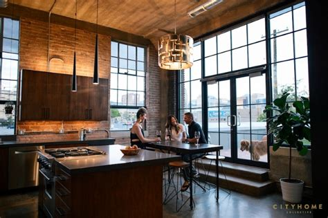 industrial loft with gothic accents in salt lake city