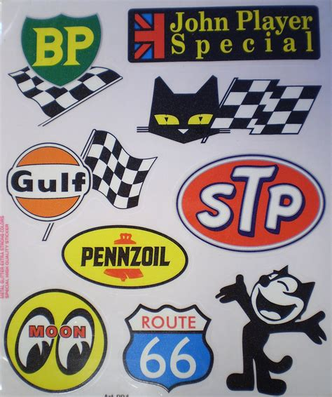 Aufkleber Old School by Rn Motor Set Of Stickers Old School