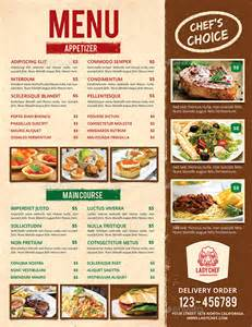 restaurant menu templates 30 free psd eps documents