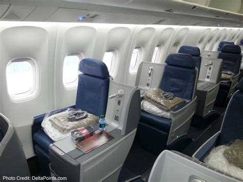 delta upgrade from economy comfort to business class delta 767 300 new business class seats delta points blog