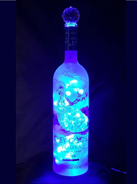Mixing Light And Liquor by Grey Goose Liquor Bottle Light Blue Led S The Bottle