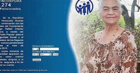 listados pensionados ivss amor mayor listado de pensionados amor mayor y seguro social 13 11