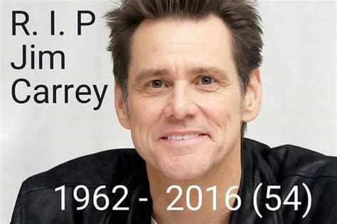 american actor died april 2016 famous comedian actor jim carrey died in april in a