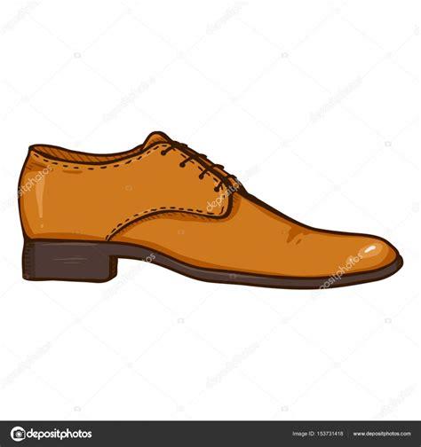 imagenes vectoriales de zapatos dibujos animados marr 243 n cuero calzado hombre archivo