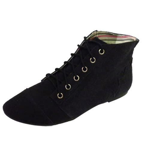 black lace up pixie boho ankle womens