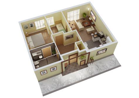 home design for 3 room flat 3 bedroom flat interior design 3d plans 3d small house