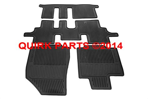 2013 2015 nissan pathfinder all season rubber floor mats