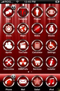 theme chrome red download red chrome apple iphone theme apple theme