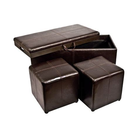 Storage Ottoman Bench With 2 Seat Cubes Tray Cover Buy Now Storage Ottoman Bench Seat