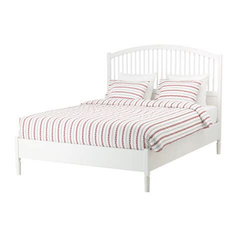 white queen bed frames tyssedal bed frame queen ikea