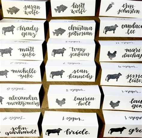 template meal place card wedding place cards dinner choice cards meal choice place