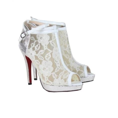 Wedding Shoes Booties by Wedding Shoes Lace Peep Toe Bootie Going To The