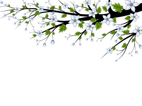 Blue Flowers Branch Ppt Backgrounds For Powerpoint Templates Blue Desktop Background Powerpoint Templates Flowers