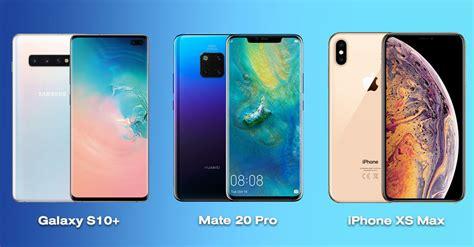 Samsung Galaxy S10 Vs Iphone Xs Max by เปร ยบเท ยบ Samsung Galaxy S10 Vs Iphone Xs Max Vs Huawei Mate 20 Pro ส ดยอดเร อธงของแต ละค าย