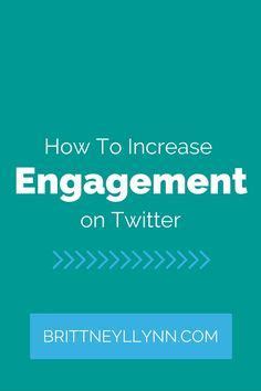Increase engagement on your twitter profile and your sales will soar