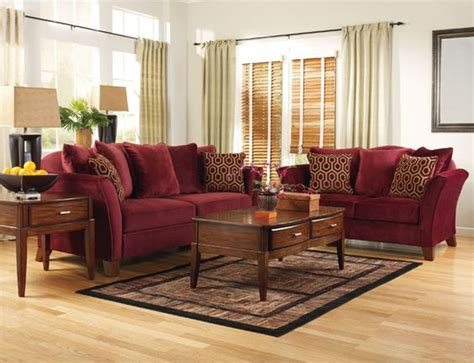 Living Room With Burgundy Sofa by Burgundy And Gold Living Room Lovetoknow Advice
