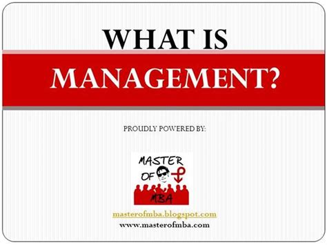 What Is A Mba License by Mba Ppm Management Definition Ppt Authorstream