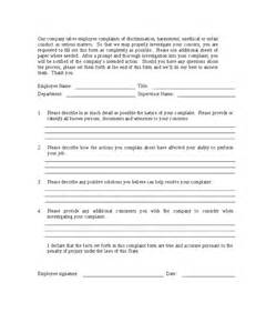 employee complaint form free printable documents