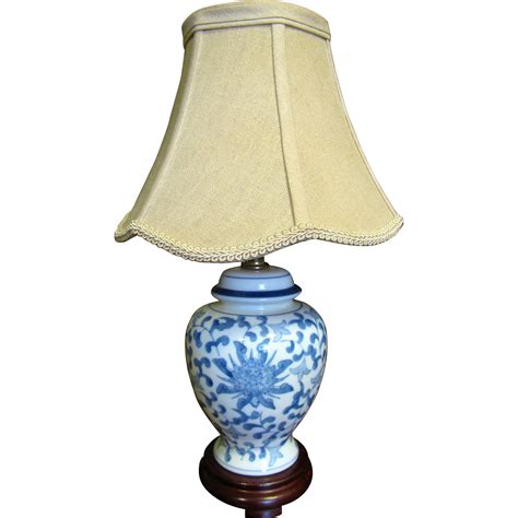 small blue l shade pretty small blue white table l with beige