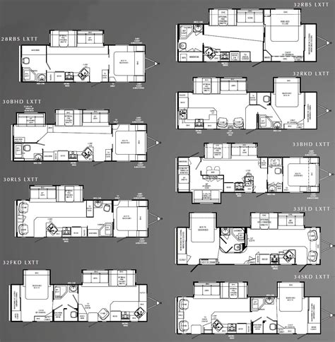 holiday rambler floor plans holiday rambler savoy lx travel trailer floorplans large