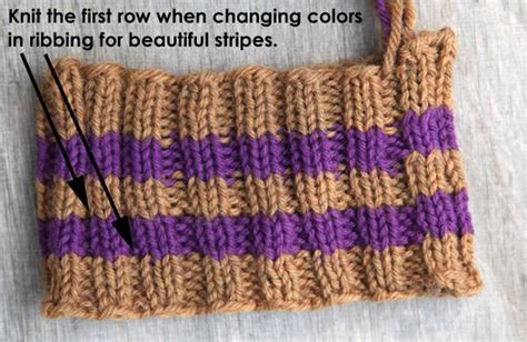 how to rib stitch knit even better illustration of seamless color change for