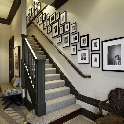 Ideas To Decorate Staircase Wall Staircase Wall Decorating Ideas Transitional Staircase Other Metro By Stairs Designs