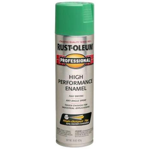 home depot spray paint green rust oleum professional 15 oz gloss safety green spray