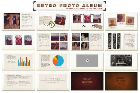 Retro Photo Album Ppt Template Presentation Templates On Creative Market Photo Album Powerpoint Template