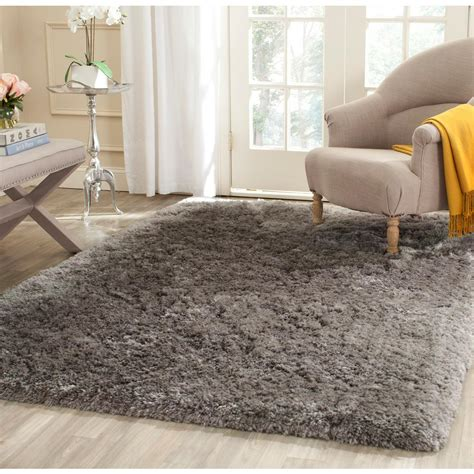 6 X 12 Area Rug Safavieh Arctic Shag Gray 8 Ft 6 In X 12 Ft Area Rug Sg270g 9 The Home Depot
