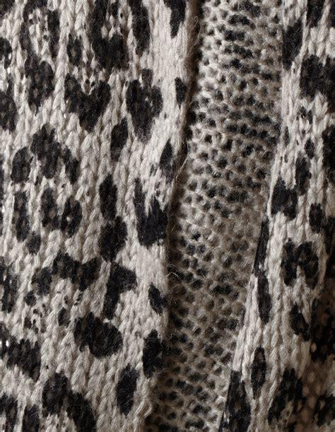 knitting pattern zebra print knit leopard print loop scarf cleo