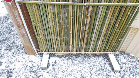 Wood Trellis Plans by Bamboo Fence Screen Is Easy To Build Youtube