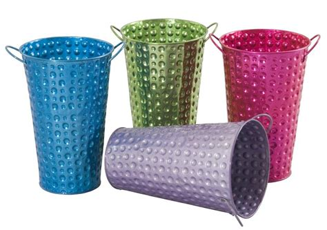 colored metal buckets colored metal buckets metal planters containers