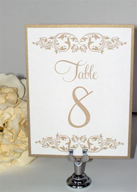 Wedding Table Numbers by Wedding Table Numbers Wedding Table Cards
