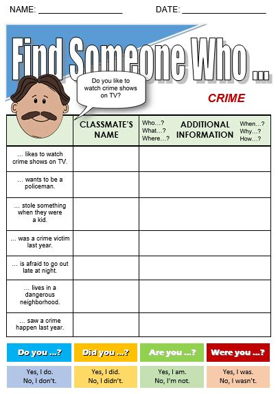 Crime Basics Worksheet 2 Answers by Crime All Things Topics