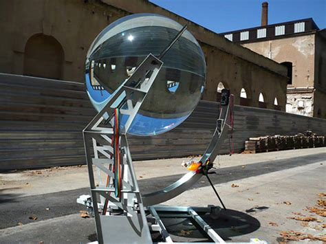 Solar Len spherical glass lens concentrates sunlight by up to 10 000