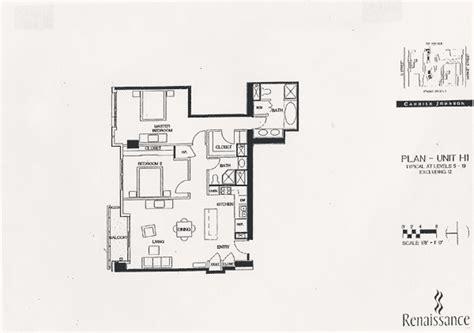 renaissance floor plan unit h1 - 1 Renaissance Sq Unit 17c Floor Plan