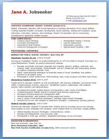 Resume Templates For Teachers Free by Elementary School Resume Sles Free Resume Downloads