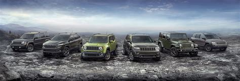 jeep lineup 2016 jeep debuts 75th anniversary editions across entire lineup