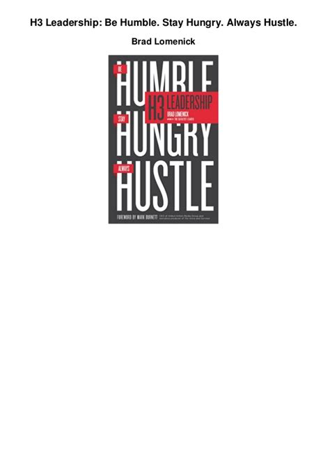 h3 leadership be humble stay hungry always hustle