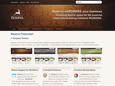 reserva joomla template for hotel bands salons resorts