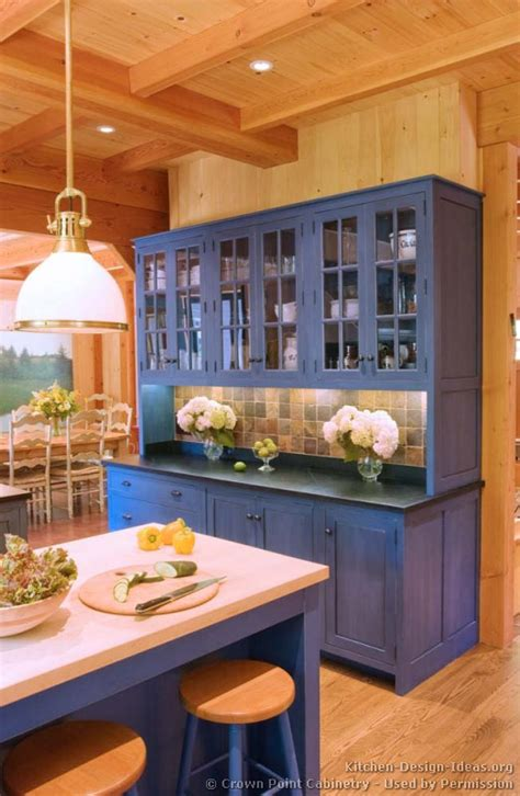 Kitchen Island Alternatives Pictures Of Kitchens Traditional Blue Kitchen Cabinets
