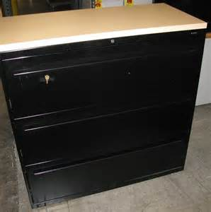 hon 3 drawer lateral file cabinets san diego used office
