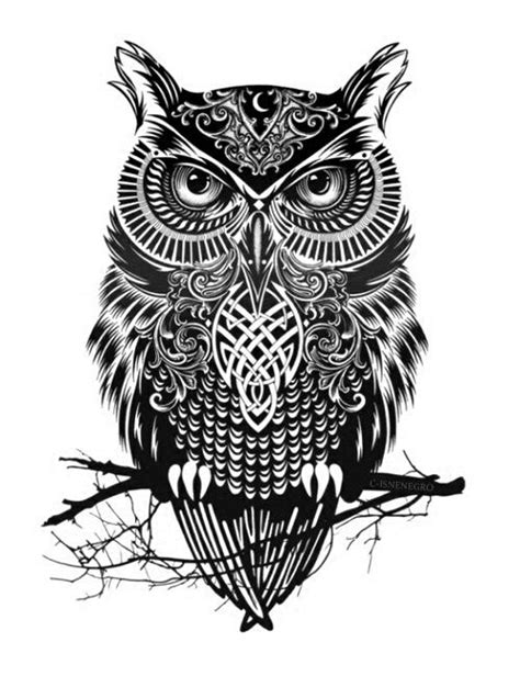 gambar tribal pattern owl leave your reply here cancel tattoo ideas pinterest