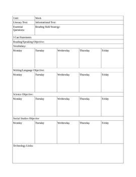 subject lesson plan template subject lesson plan template by and